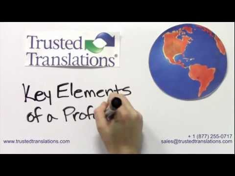 Professional Translation Services:  Understanding the Key Components