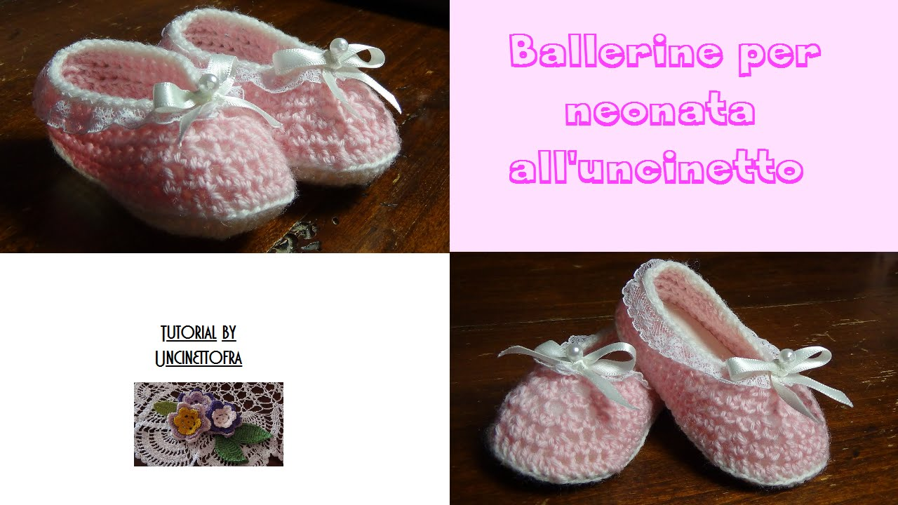 Ballerine Per Neonata Alluncinetto Tutorial Youtube