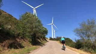 Acondicionamiento del monte Oiz para la etapa de la Vuelta