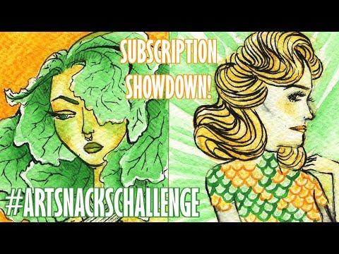 ARTSNACKS CHALLENGE | Subscription Showdown | ktaddison