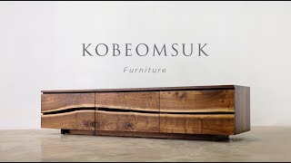 Kobeomsuk furniture - Live Edge TV Stand