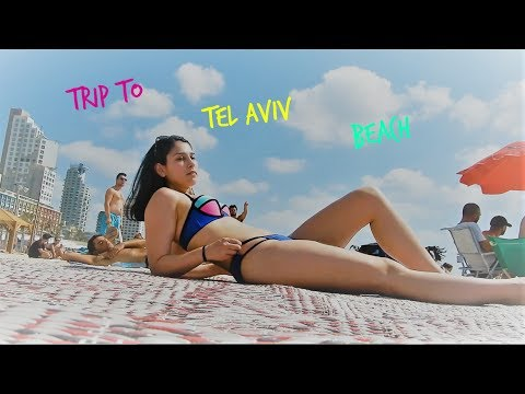 Trip to The Beach in Tel Aviv, Israel - My First Vlog!