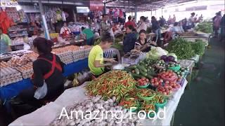 Laos Trip , savannakhet Market Laos Street Food