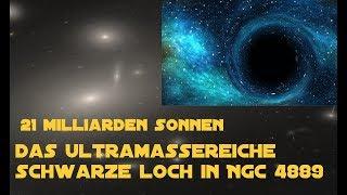 21 Milliarden Sonnen: Das ultramassereiche Schwarze Loch in NGC 4889