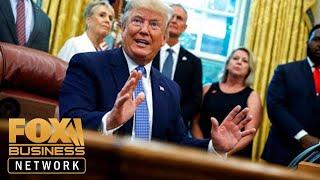 President Trump touts tariffs as