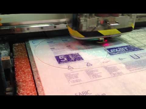 Taglio disco lexan con macchina cnc