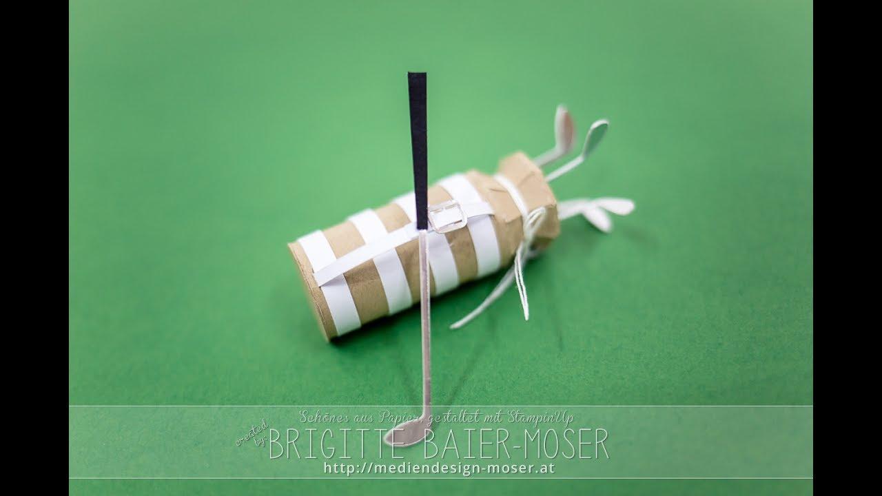 golftasche und golfschl 228 ger aus papier mit silhouette cameo