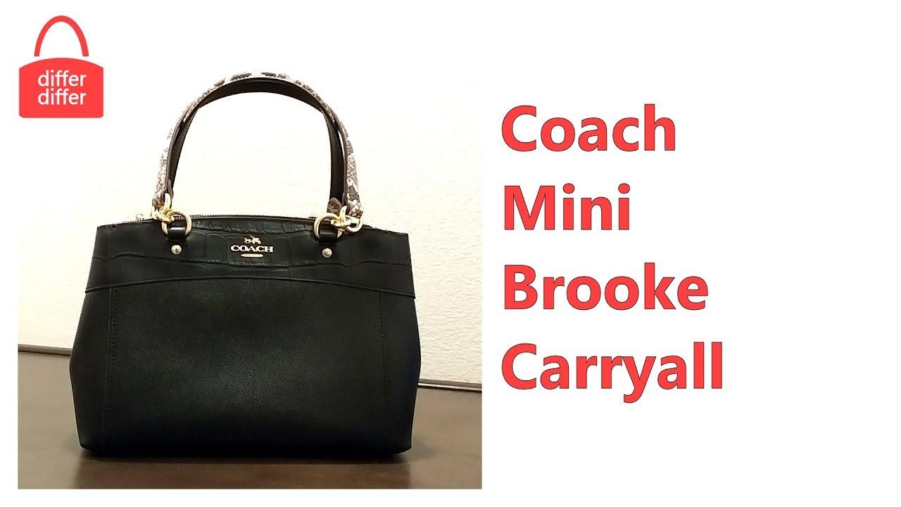 33f90cc60df5 Coach Mini Brooke Carryall 26143 - YouTube