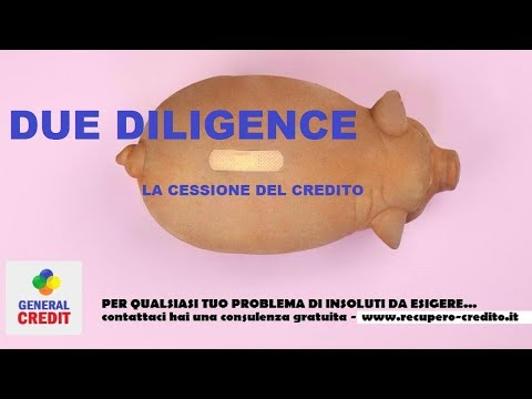 general credit due diligence insoluti