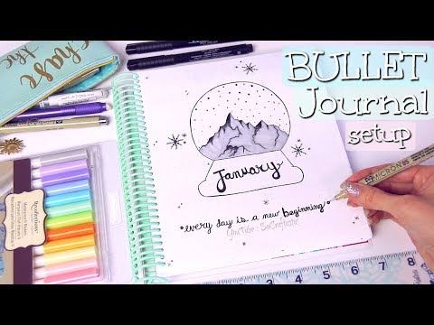 BULLET JOURNAL SETUP // PLAN WITH ME - January 2018 - SoCraftastic