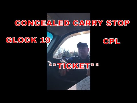 Concealed Carry STOP, Pulled Over By Michigan State Police!! **TICKET**
