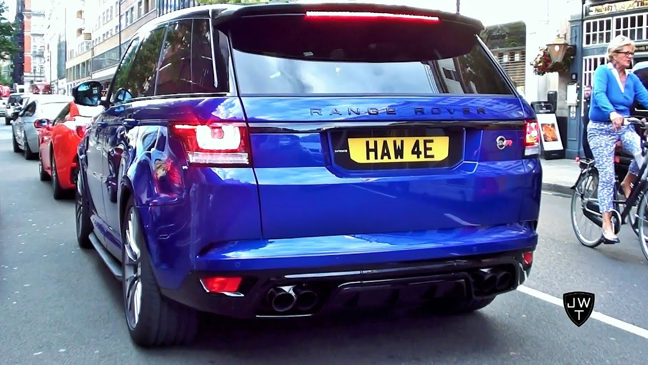 2019 Range Rover Sport >> Range Rover Sport SVR Making NOISE in London!! REVS & Acceleration SOUNDS! - YouTube