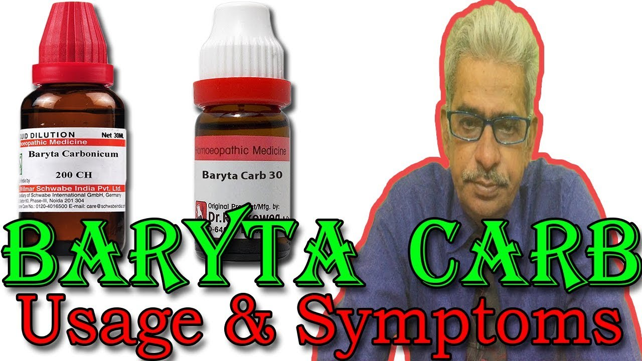 Baryta Carb in Hindi - Uses & Symptoms in Homeopathy by Dr P S  Tiwari