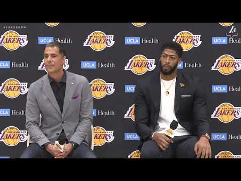 Anthony Davis FULL Lakers Introductory Press Conference   Talks LeBron, Kuzma, Boogie & MORE