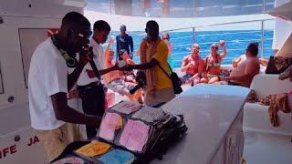 Island routes Dunn's River Catamaran cruise Jamaic