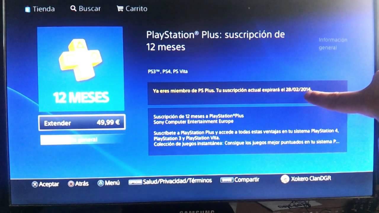 Canjear Codigos En Playstation Network Store Y Hacerse Miembro Plus