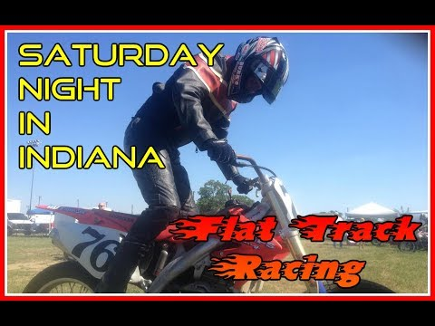 Saturday Night in Indiana- Cory Flat Track Racing at Mid-America Speedway