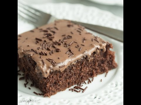 Frosted Texas Brownies Recipe And Video