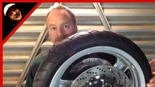 Change And Balance A Motorcycle Tire With Minimal Tools Zip Ties