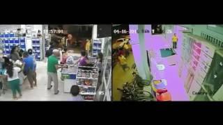 """Terremoto en Ecuador 7.8 : Chone/Manabí, Momento del temblor en el centro Comercial """"Don Paco"""""""