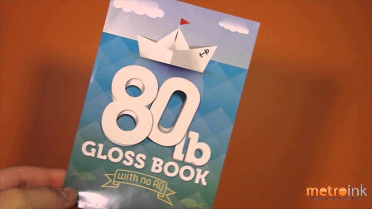 Metroink 80 Lb Gloss Book - YouTube