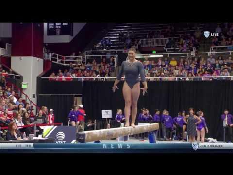 Kyla Ross (UCLA) 2017 Beam Pac-12 Championships 10.0