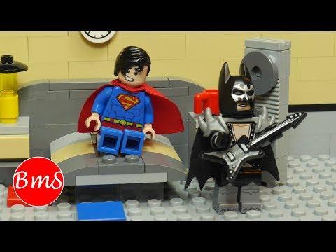 Lego Superman vs Hard Rock Batman