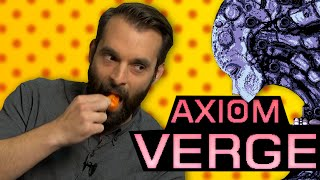 axiom verge hot pepper game review ft nick scarpino kinda funny