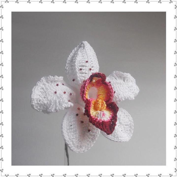 Free Crochet Pattern Orchidee : ORCHID B - YouTube