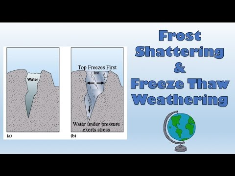 frost shattering freeze thaw weathering diagram and explanation  : weathering diagram - findchart.co