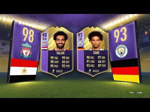 98 POTY SBC SALAH, 93 yPOTY SBC SANE! - (Completed) FIFA 18 Ultimate Team