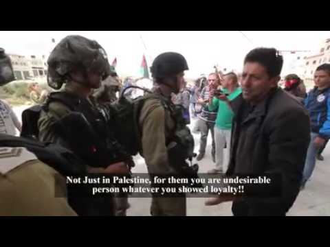 These Israeli Arab soldiers confronted by a intimidatingly brave Palestinian man!