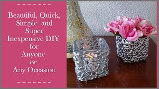 Elegant, Dollar Tree DIY Glue Gun Container / Candle Holder  Home Decor