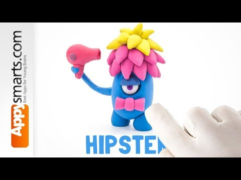 Play Dough Cute Monster - crafts tutorial from Hey Clay game thumbnail