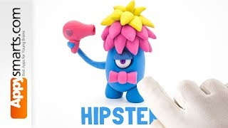 Play Dough Cute Monster - crafts tutorial from Hey Clay game