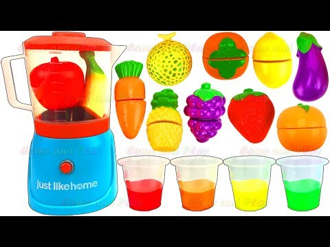 Thumbnail: Learn Colors Fruit Blender Toys Slime Smoothie Playset Velcro Surprise Toys Kinder Disney Mickey