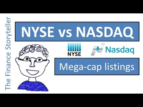 "NYSE vs NASDAQ - who has more ""mega cap"" listings?"