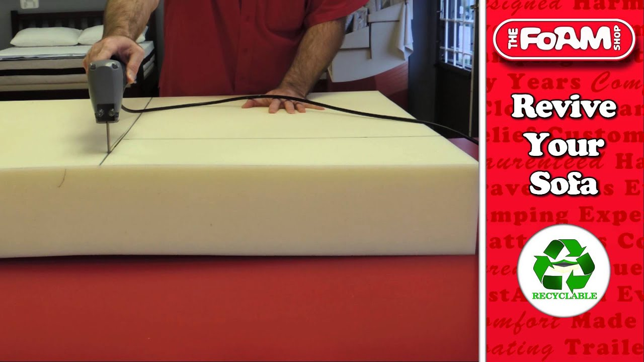 foam cushion replacements for sofas double bed size sleeper sofa the shop replacement youtube
