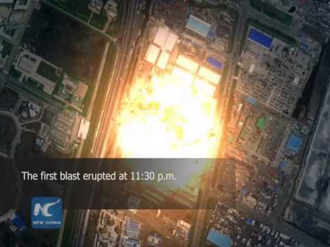 News illustrated: Explosions rock China's Tianjin