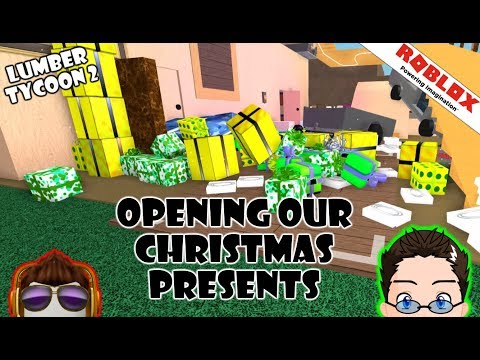 Opening All Gifts In Lumber Tycoon 2 Roblox Gameplay Youtube Roblox Lumber Tycoon 2 Opening Christmas Presents Youtube