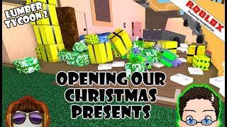 Roblox - Lumber Tycoon 2 - Opening Christmas Presents!