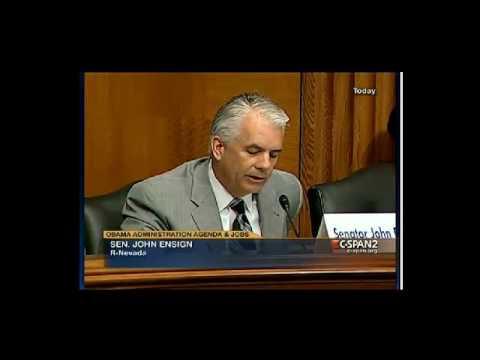 Senator Ensign Urges Focus on Job Creation
