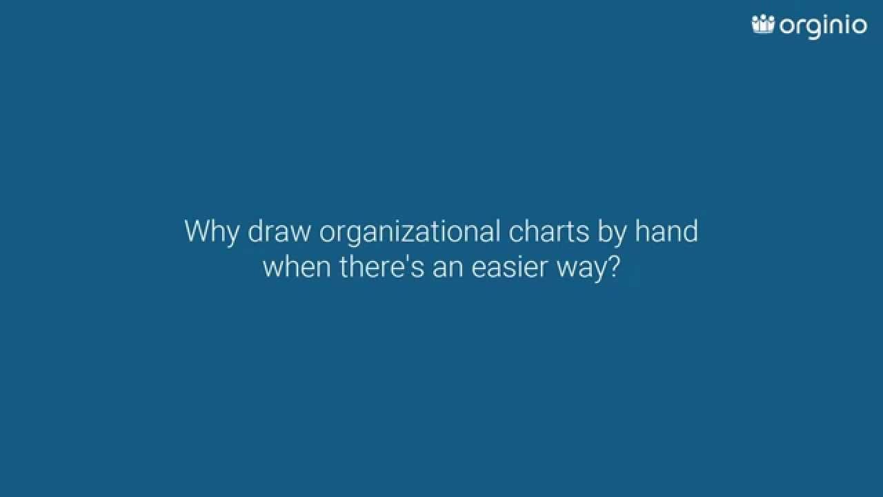 orginio - Organization Charts - Why draw org charts by hand?
