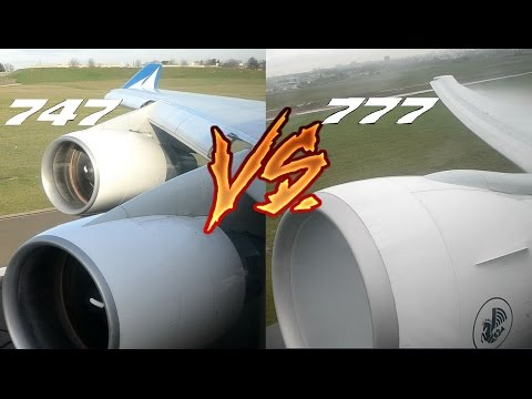 ENGINE SOUND BATTLE! Boeing 777 vs 747. Choose your Favourite!!