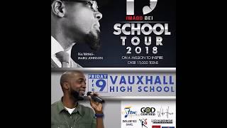 Marq Johnson Imago Dei Tour 2018 stopped at Vauxhall High