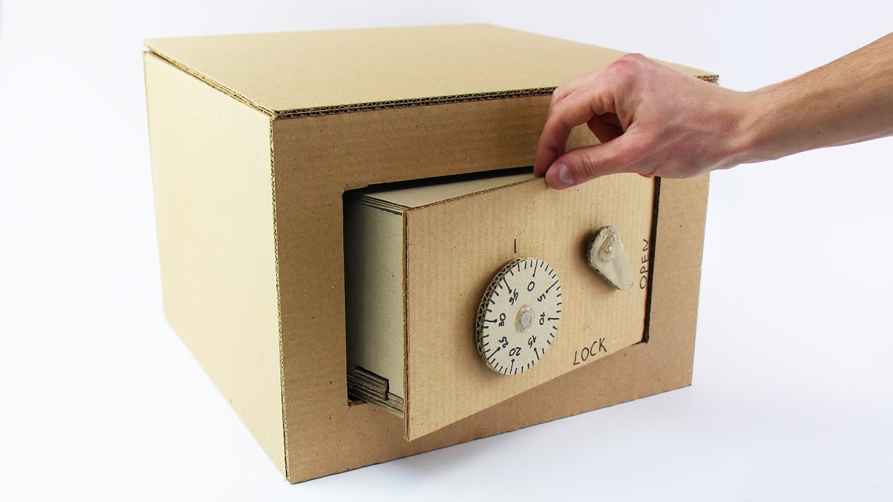 How to Make Safe with Combination Lock from Cardboard   YouTube How to Make Safe with Combination Lock from Cardboard