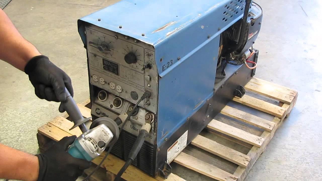 Miller Legend Gas Powered Ac Dc Arc Welder Generator Onan 18hp Trailblazer Engine Diagram Youtube