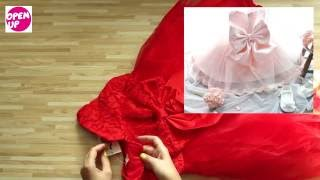 Распаковка и обзор посылки с нарядным платьем для девочки , возрастом 3 - 4 года