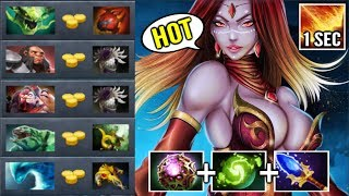 SEXY CARRY Lina vs 5 Tanker! 500 IQ Plays 1 Sec Dragon with OC Epic Top China Game WTF Dota 2