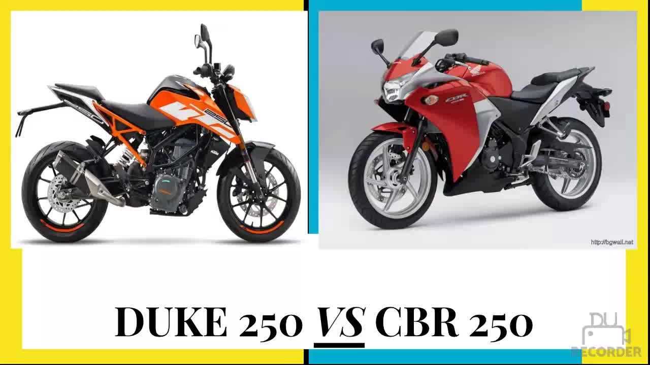Bajaj pulsar rs200 vs ktm rc200 vs honda cbr250r comparison youtube - Ktm Duke 250 Vs Honda Cbr 250 Which Bike Should I Buy Specification Comparison